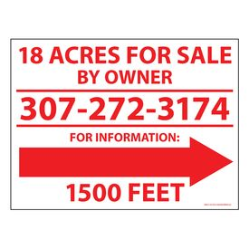 Acres For Sale sign image