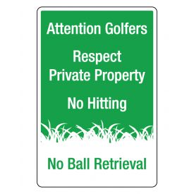 Attention Golfers v2 sign image
