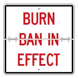 Folding Burn Ban In Effect 24 x 24 sign image