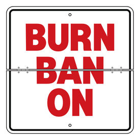 Folding Burn Ban On 18 x 18 sign image