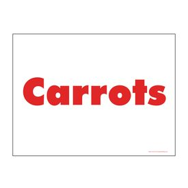 Carrots sign image