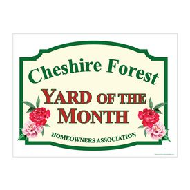 Cheshire Forest Yard of the Month sign image