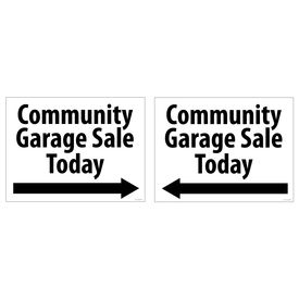 Comm Garage Sale 36x48 Coro sign image