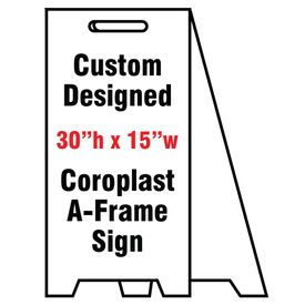 Coro A-frame Custom sign image