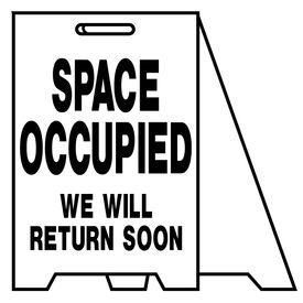 Coro A-frame Space Occupied sign image 2