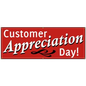 Customer appreciation day sign image