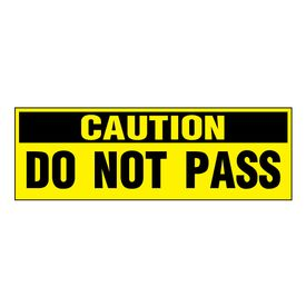 Caution Do Not Pass decal image