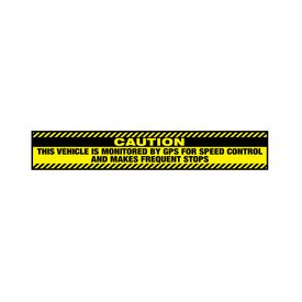 Caution Frequent Stops 5x30 decal image