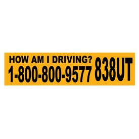 How Am I Driving decal image