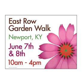 East Row Garden Walk yard sign image