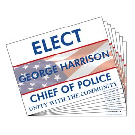Five Hundred Elect George Harrison Signs Image
