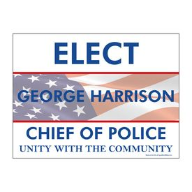 Elect George Harrison single yard sign image