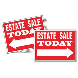 One Hundred Estate Sale Directional Signs Image