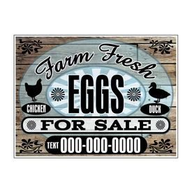 Farm Fresh CHKN DK Eggs Wood Grain sign image