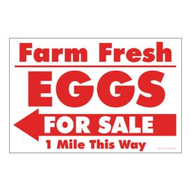 Farm Fresh Eggs R&W Left arrow sign image