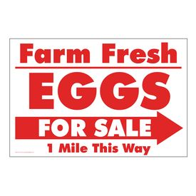Farm Fresh Eggs R&W Right arrow sign image
