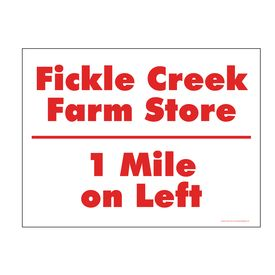 Fickle Creek 1 Mile sign image