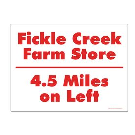 Fickle Creek 4.5 Miles sign image