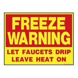 Freeze Warning R&Y Aluminum sign image