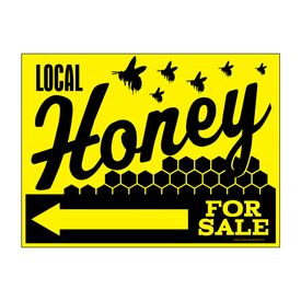 Local Honey For Sale Left Directional sign image