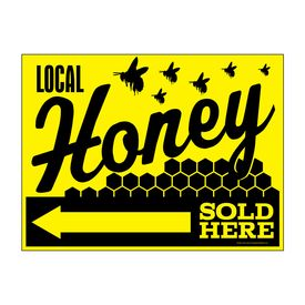 Local Honey Sold Here Left Directional sign image