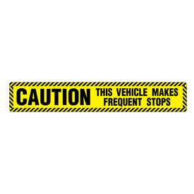 Caution Frequent Stops 6x36 Magnetic Image
