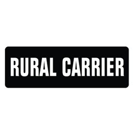 Rural Carrier magnetic sign image
