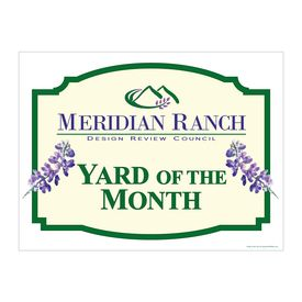 Yard of the Month Meridian Alum sign image