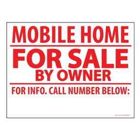 Mobile Home FS BO sign image