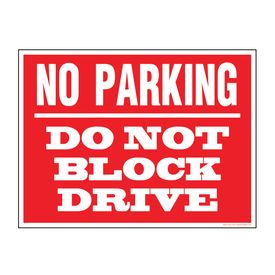 No Parking Do Not Block sign image