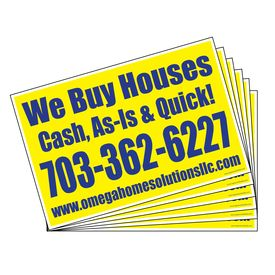 Omega We Buy Houses (500) sign image