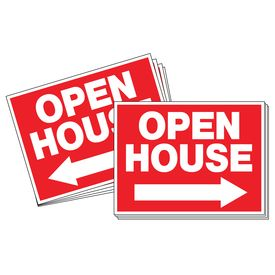 Ten Open House directional arrow signs image