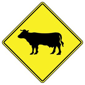 Cow Diamond sign image