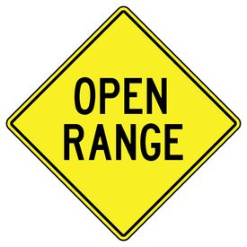 Open Range Diamond sign image