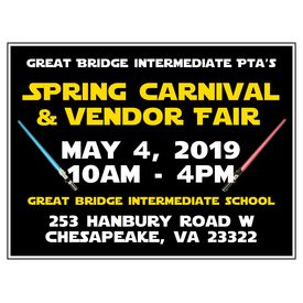 Great Bridge PTA Spring Carnival Yard Sign Image