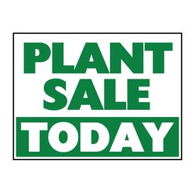 Plant Sale Today sign image
