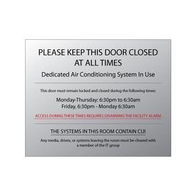 "Please Keep Door Closed 8"" x 10"" sign image"