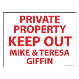 Private Property Keep Out sign image