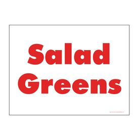 Salad Greens sign image