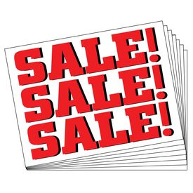 Ten SALE SALE SALE signs image