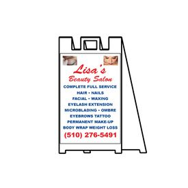 Lisa's Beauty Salon sign image