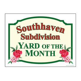 Southhaven Yard of the Month sign image