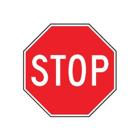 Alum 8x8 stop sign image