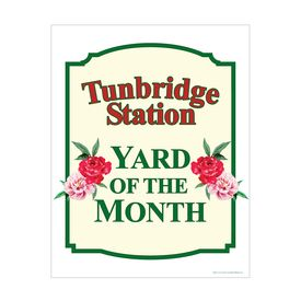 Tunbridge Station Yard of the Month 28x22 sign image