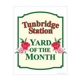 Tunbridge Station Yard of the Month 28x22 sign image