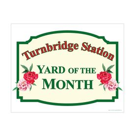 Turnbridge Station Yard of the Month sign image