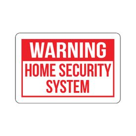 Warning Home Security 12x18 sign image