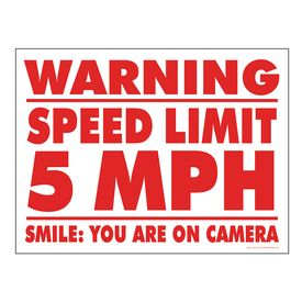 Warning Speed Limit 5MPH sign image