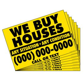 500 We Buy Houses Y&B Gen sign image