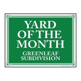 Yard of the Month Greenleaf sign image